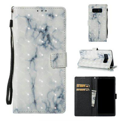 3D Marble Pattern Painted Pu Phone for Samsung Galaxy Note 8