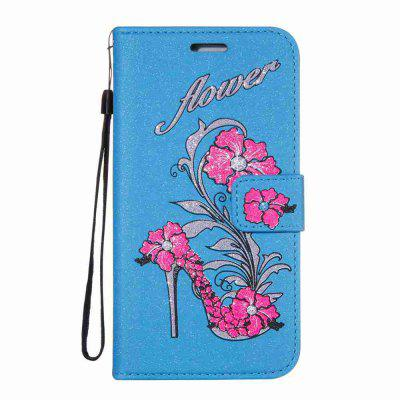 Buy CORNFLOWER Flash Powder Dyed Silk Printed Rattan High Heels Pu Phone Case for Samsung Galaxy S4 for $6.91 in GearBest store