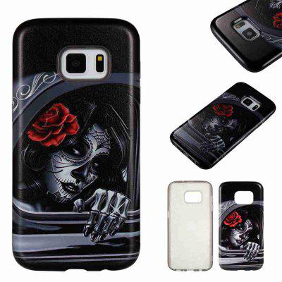 Two-in-one Painted Embossed PU TPU Phone Case for Samsung Galaxy S7