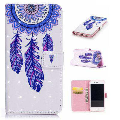 For iPhone 7 / 8 3D Dreamcatcher Pattern Varnishing Process Wallet Card Holder with Stand PU Leather Material Phone Case