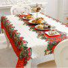 XM 1PCS Christmas Creative Tablecloth Fabrics Christmas Bowknot Patter Holiday Decorations - RED
