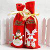 XM 2pcs Nonwovens Christmas Wine Bottle Decorate Holiday Decorations - RED