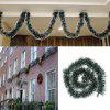 XM 200CM Christmas Decoration Dark Green Tops White Edge Holiday Decorations - GREEN