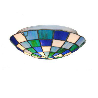 Brightness Diameter 30cm Tiffany Ceiling Light Glass Shade Living Dining Room Bedroom Flush Mount XD002