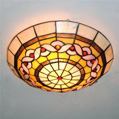 Brightness Diameter 30cm Tiffany Ceiling Light Glass Shade Living Dining Room Bedroom Flush Mount XD003
