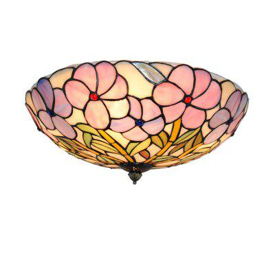 Brightness 40cm Tiffany Ceiling Light Glass Shade Dining Living Room Bedroom Flush Mount XD013