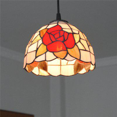 Brightness 20cm Retro Tiffany Pendant Lights Glass Shade for Bedroom Dining Living Kids Room DD001