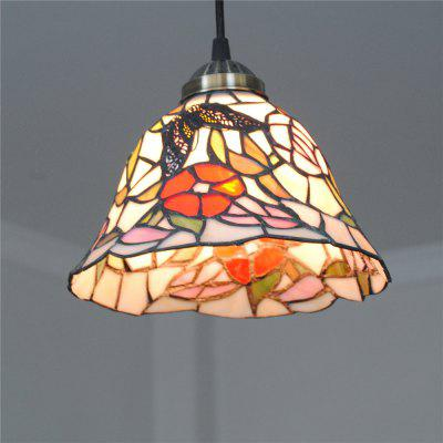 Brightness 20cm Retro Tiffany Pendant Lights Glass Shade for Bedroom Dining Living Kids Room DD002