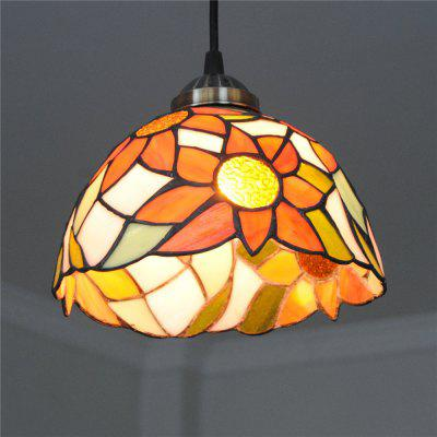 Brightness 20cm Retro Tiffany Pendant Lights Glass Shade for Bedroom Dining Living Kids Room DD003