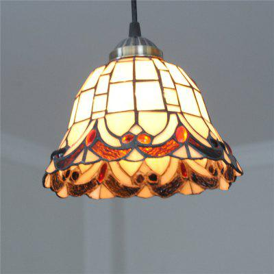 Brightness 20cm Retro Tiffany Pendant Lights Glass Shade for Bedroom Dining Living Kids Room DD004