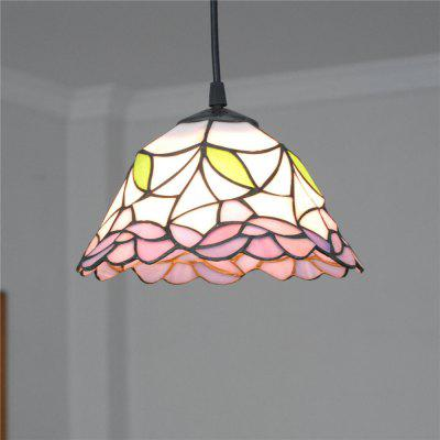 Brightness 20cm Retro Tiffany Pendant Lights Glass Shade for Bedroom Dining Living Kids Room DD005