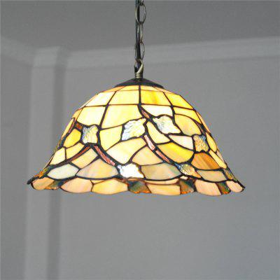 Brightness 30cm Retro Tiffany Pendant Lights Glass Shade for Bedroom Dining Living Kids Room DD006