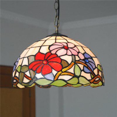 Brightness 30cm Retro Tiffany Pendant Lights Glass Shade for Bedroom Dining Living Kids Room DD008