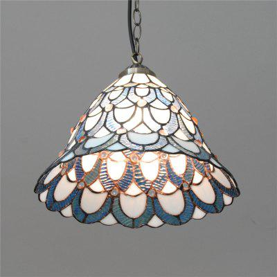 Brightness 30cm Retro Tiffany Pendant Lights Glass Shade for Bedroom Dining Living Kids Room DD009