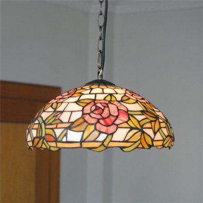 Brightness Diameter 30cm Retro Tiffany Pendant Lights Glass Shade for Bedroom Living Dining Kids Room DD010