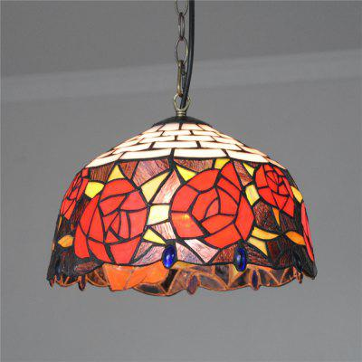 Brightness 30cm Retro Tiffany Pendant Lights Glass Shade for Bedroom Dining Living Kids Room DD011