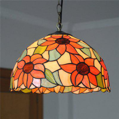 Brightness Diameter 30cm Retro Tiffany Pendant Lights Glass Shade for Bedroom Living Dining Kids Room DD012
