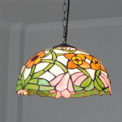Brightness Diameter 30cm Retro Tiffany Pendant Lights Glass Shade for Bedroom Living Dining Kids Room DD013