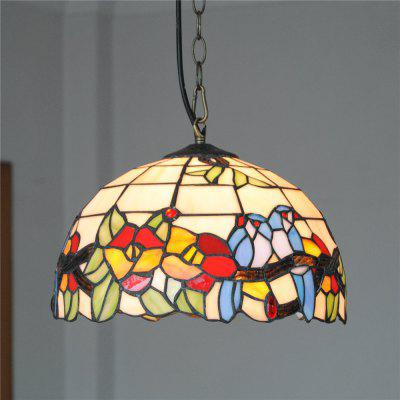 Brightness Diameter 30cm Retro Tiffany Pendant Lights Glass Shade for Bedroom Living Dining Kids Room DD014
