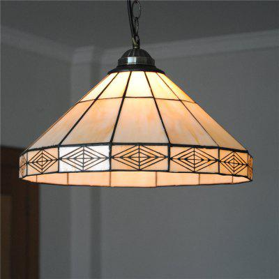 Brightness Diameter 35cm Retro Tiffany Pendant Lights Glass Shade for Bedroom Living Dining Kids Room DD015
