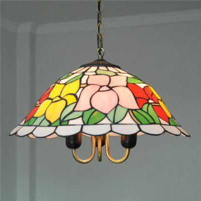 Brightness Diameter 40cm Retro Tiffany Pendant Lights Glass Shade for Bedroom Living Dining Kids Room DD016