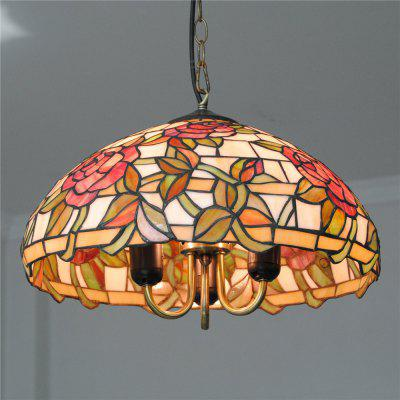 Brightness Diameter 40cm Retro Tiffany Pendant Lights Glass Shade for Bedroom Living Dining Kids Room DD020