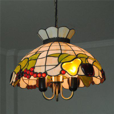 Brightness Diameter 40cm Retro Tiffany Pendant Lights Glass Shade for Bedroom Living Dining Kids Room DD022