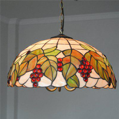 Brightness Diameter 45cm Retro Tiffany Pendant Lights Glass Shade for Bedroom Living Dining Kids Room DD025