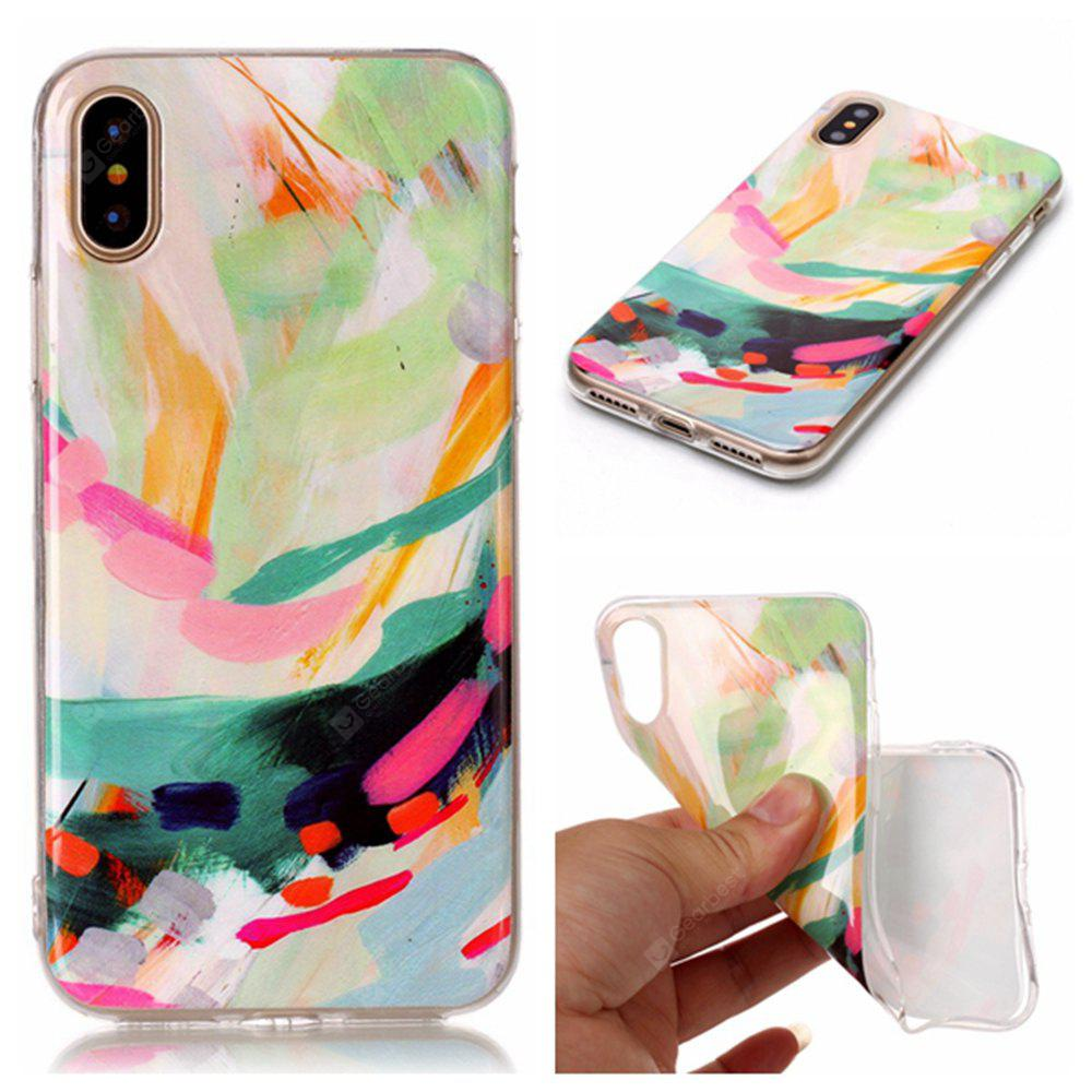 Wkae Doux TPU Couleur Impression Protection Shell pour iPhone X