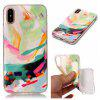 Wkae Doux TPU Couleur Impression Protection Shell pour iPhone X - VERT