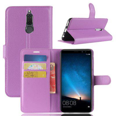 Buy PURPLE Solid Color Litchi Pattern Wallet Style Front Buckle Flip Pu Leather Case with Card Slots for Huawei G10 for $4.59 in GearBest store