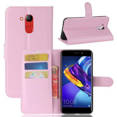 Buy PINK Solid Color Litchi Pattern Wallet Style Front Buckle Flip Pu Leather Case with Card Slots for Huawei Honor V9 Play for $4.59 in GearBest store