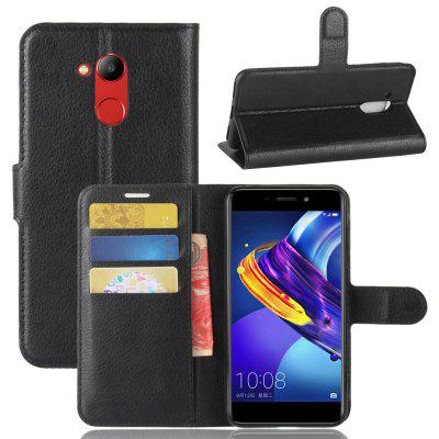 Buy BLACK Solid Color Litchi Pattern Wallet Style Front Buckle Flip Pu Leather Case with Card Slots for Huawei Honor V9 Play for $4.59 in GearBest store