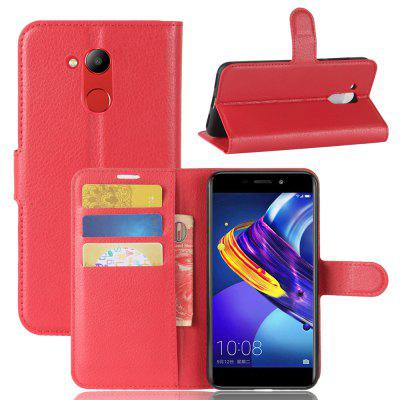Buy RED Solid Color Litchi Pattern Wallet Style Front Buckle Flip Pu Leather Case with Card Slots for Huawei Honor V9 Play for $4.59 in GearBest store