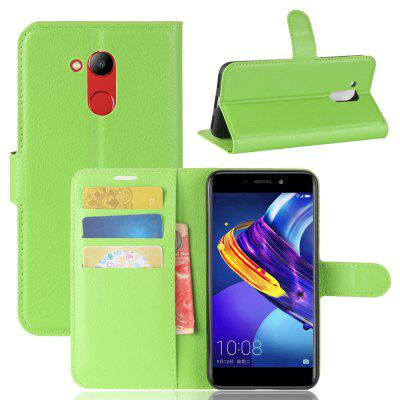 Buy GREEN Solid Color Litchi Pattern Wallet Style Front Buckle Flip Pu Leather Case with Card Slots for Huawei Honor V9 Play for $4.59 in GearBest store