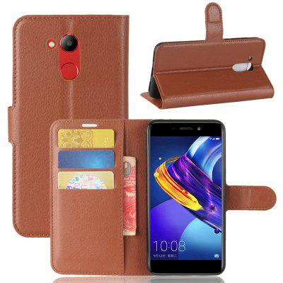 Buy BROWN Solid Color Litchi Pattern Wallet Style Front Buckle Flip Pu Leather Case with Card Slots for Huawei Honor V9 Play for $4.59 in GearBest store