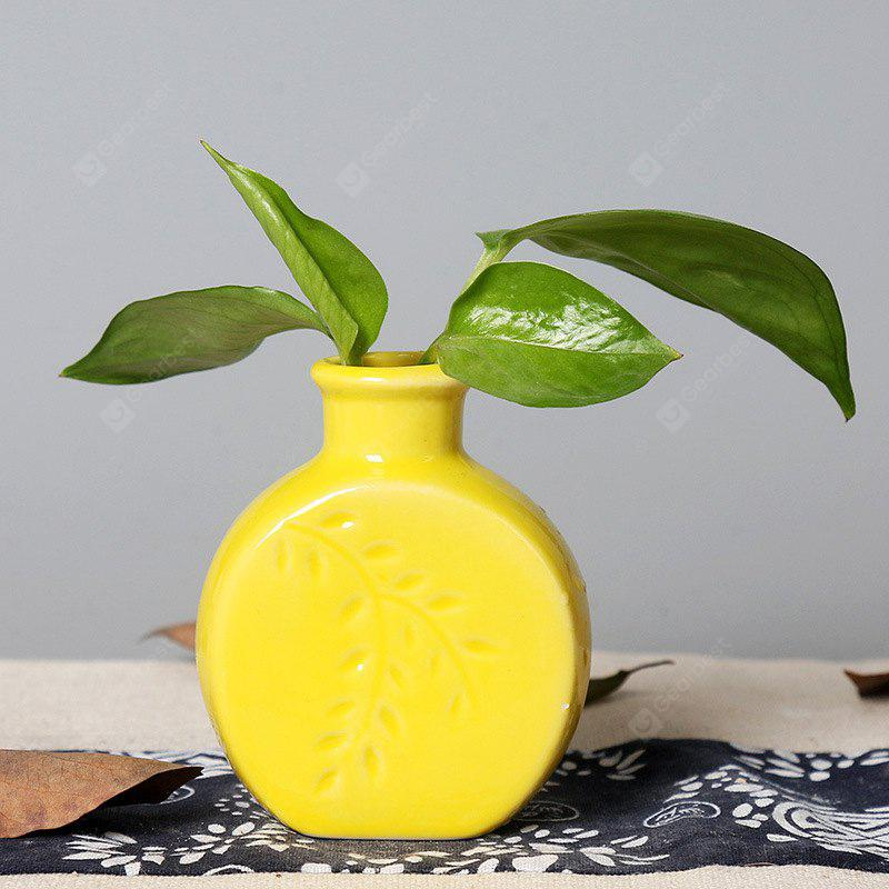 YELLOW 803 1PCS Creative Fashion Home Furnishing A Vase