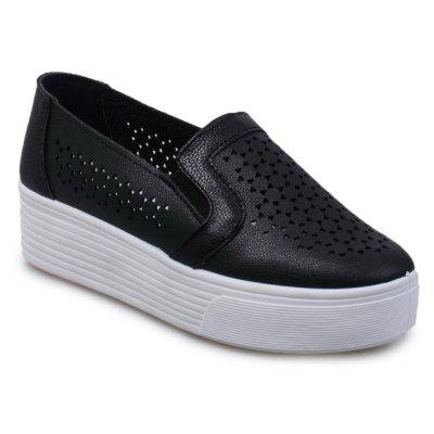 Tête ronde College Petite chaussure blanche