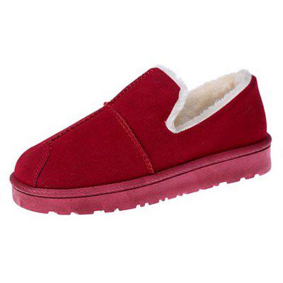 Buy RED 36 Lap Top Warm Bread Shoes for $23.20 in GearBest store