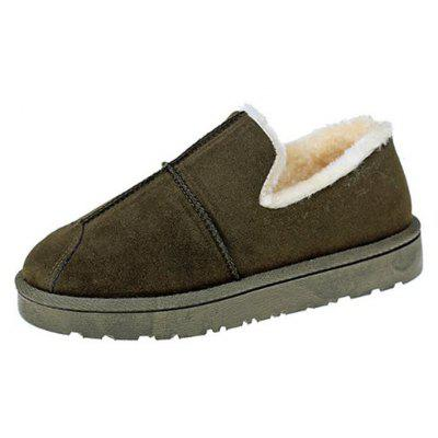 Buy GREEN 37 Lap Top Warm Bread Shoes for $23.20 in GearBest store
