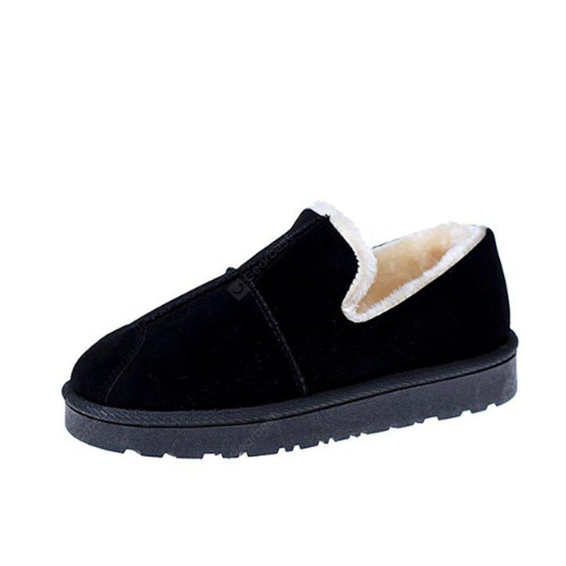 BLACK 36 Lap Top Warm Bread Shoes