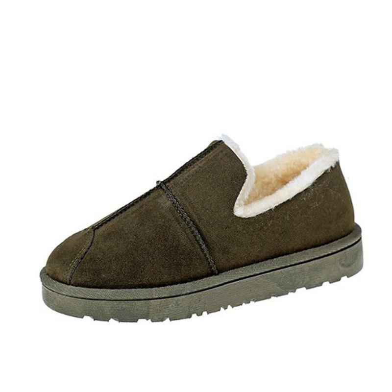 GREEN 38 Lap Top Warm Bread Shoes