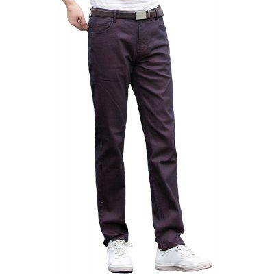 Autumn Fashion Leisure Trousers Straight Jeans Brown