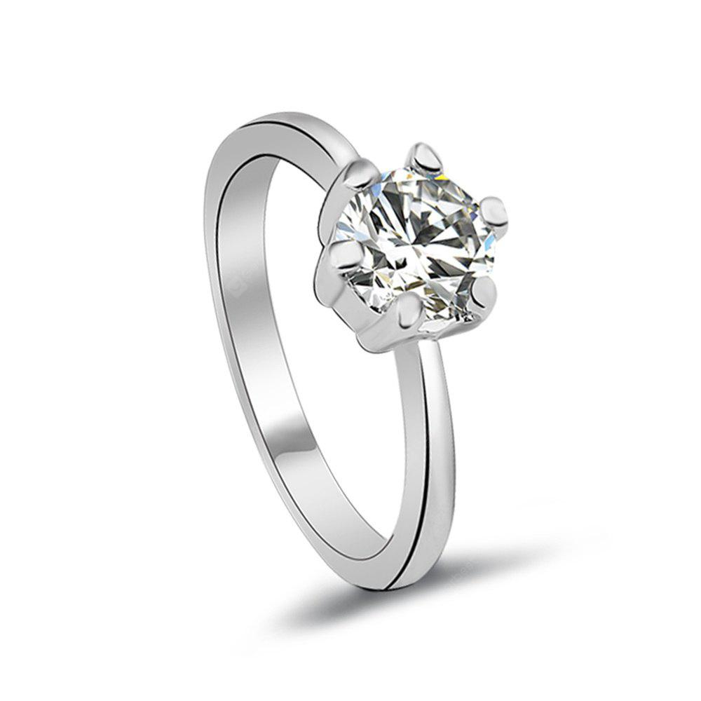 plated pp zirconia his wedding hers silver rings mechanical platinum swarovski sterling