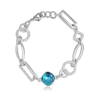 Buy SILVER AND BLUE Sterling Silver Infinity Endless Love Symbol Charm Colorful Blue Bracelet for $36.95 in GearBest store
