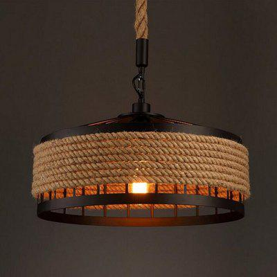 MS-04 Nordic Hemp Rope Chandelier Dangling Lamp Pendant Light Fixtures Home Decor