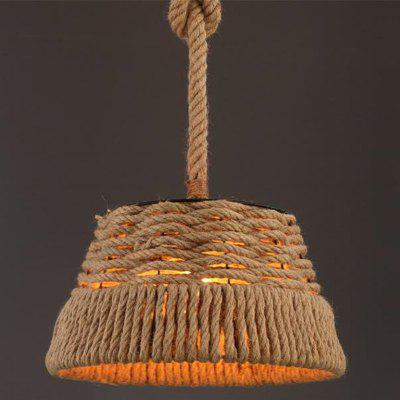 MS-05 Nordic Hemp Rope Chandelier Creative Dangling Lamp Pendant Light Fixtures Home Decor