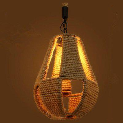 Buy BROWN MS 14 Nordic Hemp Rope Chandelier Retro Antique Dangling Lamp Pendant Light Fixture for Restaurant Coffee Kitchen for $103.37 in GearBest store