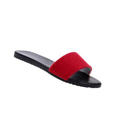 YQ-A97 Flat Bottomed Fashion Slippers Casual Shoes Word Drag