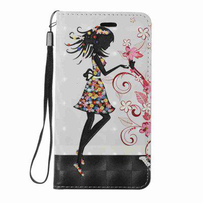 New Style Magnetic 3D Embossed Painted Pu Phone Case for HUAWEI Y3 2017